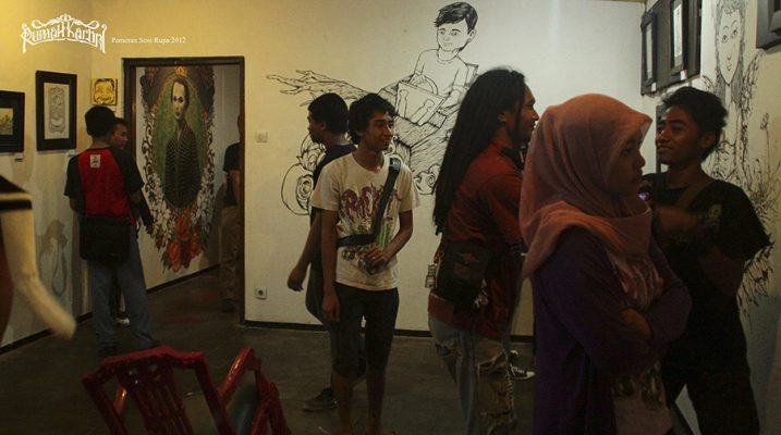 Instalasi karya Pameran Seni Rumah Kartini Jepara