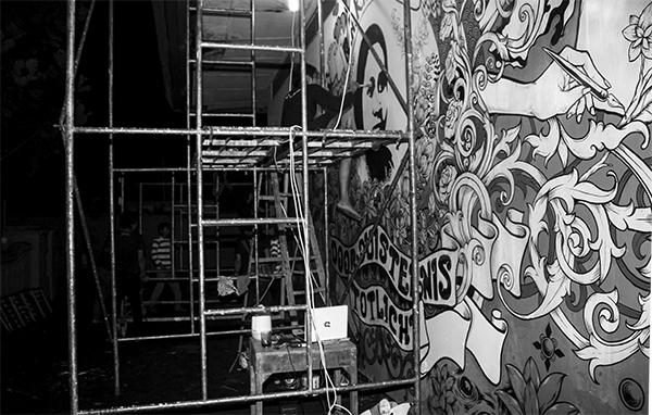 kegiatan seni mural museum kartini oleh komunitas Rumah Kartini Japara Indonesia