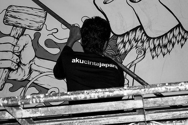 seni mural museum kartini oleh komunitas Rumah Kartini Japara Indonesia